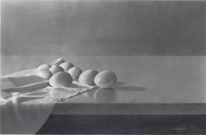 Eggs, by Stan Townsend graphite on paper